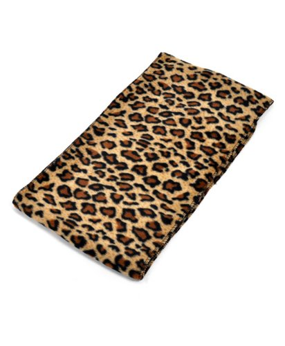 ブラック&ブラウンLeopard Print 3 Pieceフリース帽子、スカーフ&グローブレディース冬セット