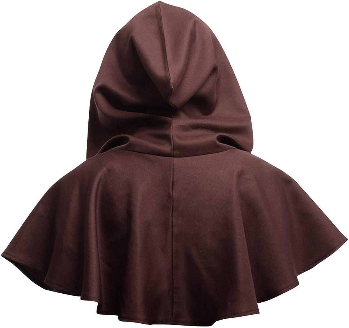 Tianhaik Halloween Grim Cowl Cloak Cosplay Costumes Hooded Poncho for Men Women