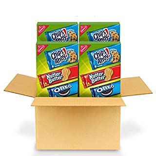 Nabisco Cookie Variety Pack, OREO, Nutter Butter, CHIPS AHOY!, 4 - 12 Pack Boxes