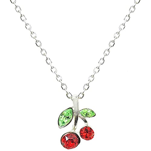 435261254 Amazon.com: GIRLPROPS Nickel Free Cherry Necklace with Crystals, Quality  Made in USA!, in Red with Silver Tone Finish: Pendant Necklaces: Jewelry