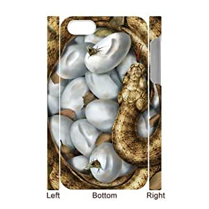 Iphone 4,4S Snake 3D Art Print Design Phone Back Case Customized Hard Shell Protection TY052695