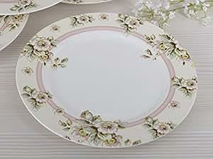 Katie Alice Cottage Flower Dinner Plate in Cream