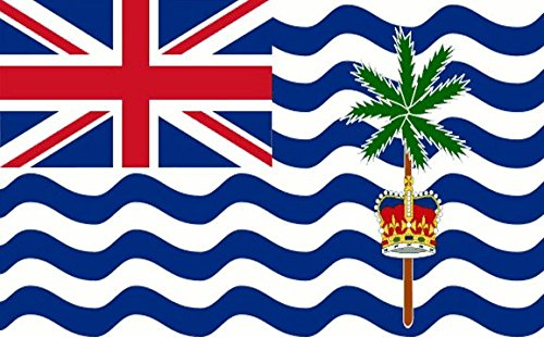 British Indian Ocean Territory Flag 5ft x 3ft Large - 100% Polyester - Metal Eyelets - Double Stitched