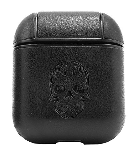 - NBA IP Pacers Wings Skull Logo (Vintage Black) Air Pods Protective Leather Case Cover - a New Class of Luxury to Your AirPods - Premium PU Leather and Handmade exquisitely by Master Craftsmen