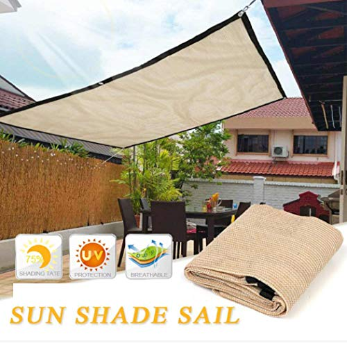 Kindes 2x2M / 2x3M UV Protection Shade Cloth Sun Shade Canopy Cover with Grommets Sturdy, Durable Shade Fabric for Garden, Patio & Porch