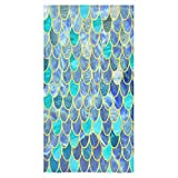 "The Mermaid Fish Scales Sale Custom Bath Towels Large Soft and Comfortable Travel Beach Bathroom Shower Washcloth Wrap for Men/Women 80% Polyester 20% Cotton, (30"" x 56"")"