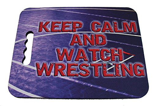 Have a Seat and Watch Wrestling Stadium Seat Cushion by Too Dark Motorsports