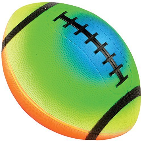 (Child Size Rainbow Design PVC Inflatable Football (1))