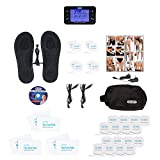DR-HO'S ® Pain Therapy System Pro Deluxe Package TENS Machine Unit (Black) - 24 small pads, 6 Large pads, 1 pair of Travel Foot Therapy Pads, Travel Bag, Instructional DVD & manual