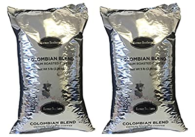 Farmer Brothers Colombian Blend Medium Roast Whole Bean Coffee (2 bag/5 lbs)