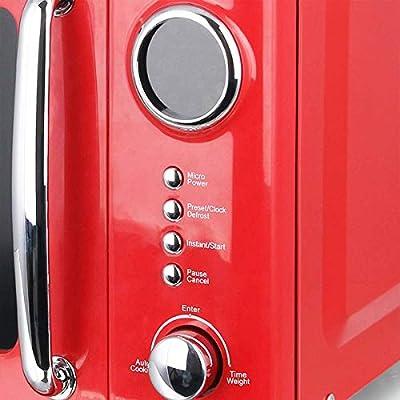 Rojas 700 W Microondas 20 litros (Plato Giratorio Retro Diseño ...