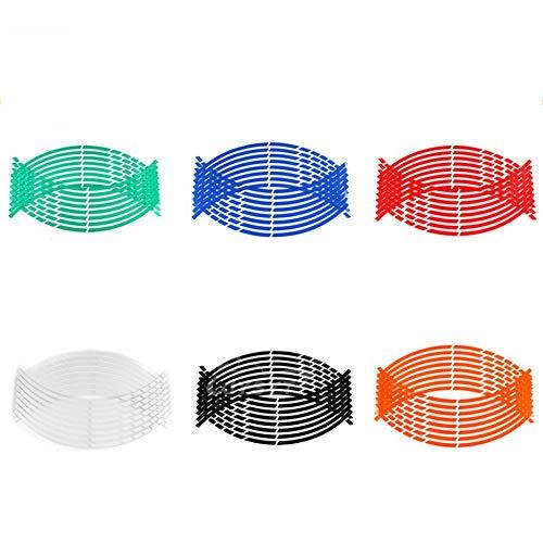 Rouge D/écalques de Bandes de Roues pour Roues de Moto Kits dautocollants pour Accessoires Autocollants fluorescents pour Ruban de Jante de Moto