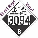 GC Labels-R303c3094, Corrosive Class 8 UN3094 20mil Rigid Vinyl DOT Placard, each Placard