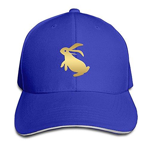 Unisex Chinese Zodiac Golden Animals Rabbit Hip Hop Adjustable Trucker Cap - Of Watch Shade Grey Fifty Online Free