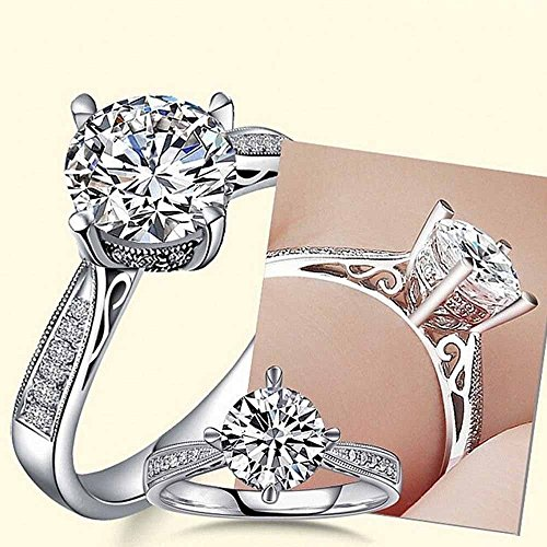 (1.5ct Handmade Engagement CZ Band Women 925 Silver Jewelry Wedding Ring Size 4-9 By Wat (5.5))