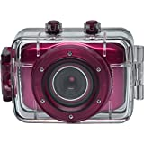 Vivitar DVR781HD HD Waterproof Action Video Camera Camcorder (Pink) with Helmet & Bike Mounts