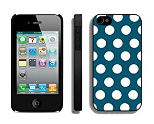 Amazon phone cases iphone 4 4s,Polka Dot Dark red and White iphone 4 4s case black cover