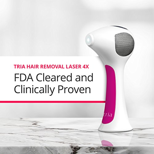 Tria Beauty Hair Removal Laser 4X for Women and Men - At Home Device for Permanent Results on Face and Body - FDA cleared