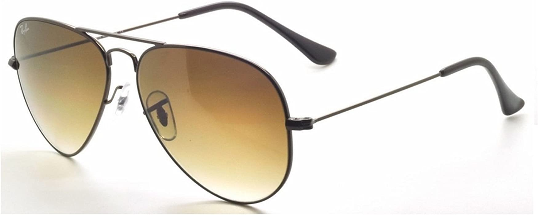 d0bad8ed381164 New Ray Ban RB3025 014 51 Aviator Brown Brown Gradient Lens 55mm Sunglasses