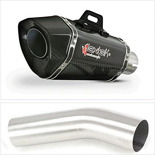 Lextek XP8C Carbon Fibre Exhaust with Link Pipe for Kawasaki ZX10 R (Carbon Exhaust Pipe)