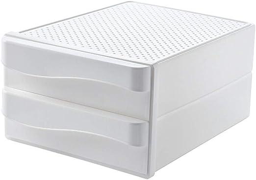 W.W 2 Niveles Caja de Almacenamiento de Escritorio A4 Soporte de Documentos cajón Organizador de Papel para Oficina en casa Caja de Estilo Simple Caja de Almacenamiento de documentación: Amazon.es: Productos para