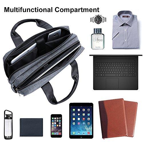Laptop Bag, Twill Shoulder Messenger Bag For Laptop, Tablets, 2in1 Convertibles, Ultrabooks, Notebook, Chromebooks Netbook Computers