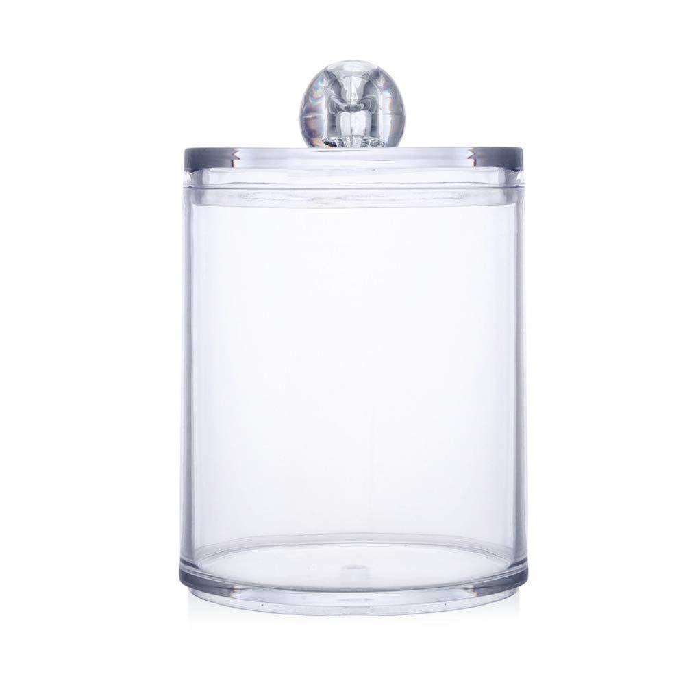 LAAT Acrylic Cotton Box Stems Holder Box Cotton-Pad Dispenser Transparent Storage Box Storage Case for Makeup Cosmetic Cotton Ball Swab Lipstick Rack Cotton Ball Holder