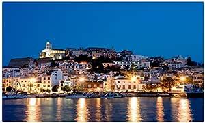 España Costa casas ciudades noche Ibiza Islas Baleares Tourist Souvenir muebles & decoración imán imanes de nevera: Amazon.es: Hogar