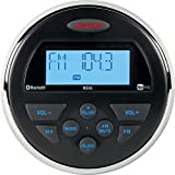 Jensen MS3ARTL AM/FM/USB/Bluetooth Compact 3.5'' Round Waterproof Stereo with App Control, 160 watts, 12V DC power system (2-wire), App ready (jControl), IPX6 waterproof design