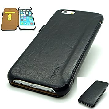 d0b378d78ce4 HOCO GENERAL SERIES GENUINE DISTRESSED LEATHER MOBILE WALLET CASE FOR APPLE  IPHONE APPLE IPHONE 6 6S 4.7 (BLACK)  Amazon.co.uk  Electronics