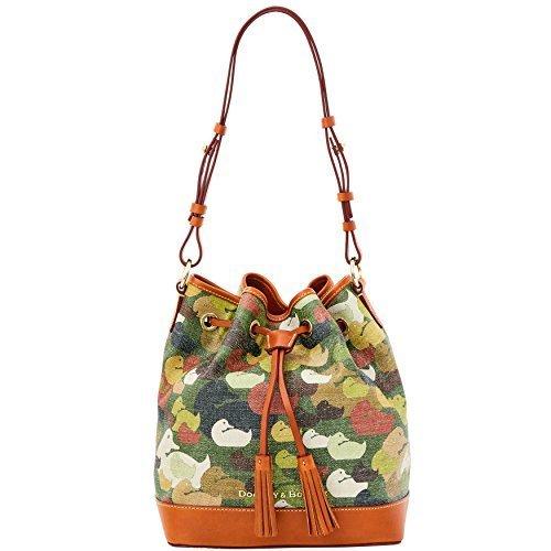 Drawstring Signature Handbag (Dooney & Bourke Camoflauge Duck Signature Drawstring Bag Duck Dynasty)