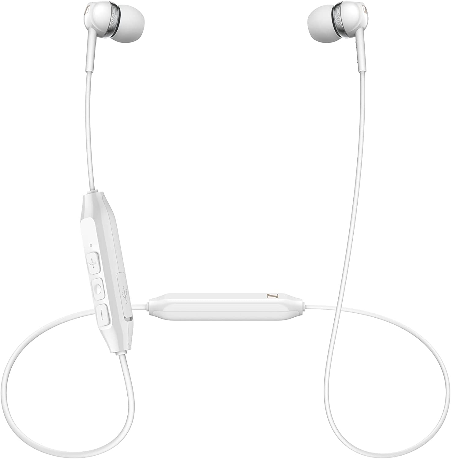 Sennheiser CX 150BT Bluetooth 5.0 Wireless Headphone - 10-Hour Battery Life, USB-C Fast Charging, Two Device Connectivity - White (CX 150BT White)
