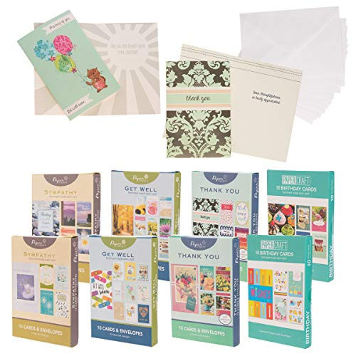 (Paper Craft (80 Count) Assorted Variety Boxed All Occasion Greeting Cards With Envelopes Birthday Get Well Sympathy Thank You)