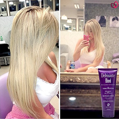 Thermo Bond (Nutri Blindagem Anti Yellow - Defrizante Blond Hairs - 400ml - Leave-in Treatment with Violet pigments - Use after Botox Platinum Blond with Thermo Protector)