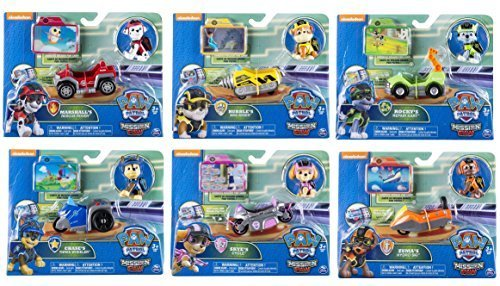 Price comparison product image Paw Patrol Mission Paw Complete Set of 6 Figures with Vehicles!