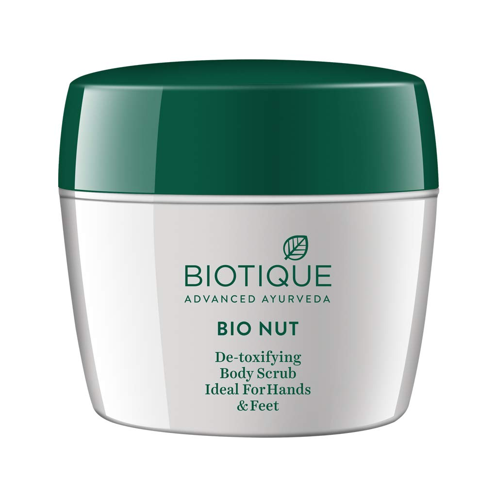 Biotique Bio Nut Detoxifying Body Scrub, Ideal for Hands and Feet, 175g