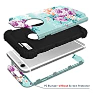 iPhone 6 case,iPhone 6s Case PIXIU Unique Hybrid Heavy Duty Shockproof Full-Body Protective Case with Dual Layer cases for Apple iPhone 6/6s 4.7inch (Peony)