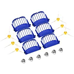 GHB Parts for iRobot Roomba 595 620 630 645 650 655 660 Replenishment Kit 18Pcs 600 Series Replacement Brushes Kit