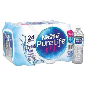 Nestle Pure Life, pack transparente de 24 botellas de agua ...