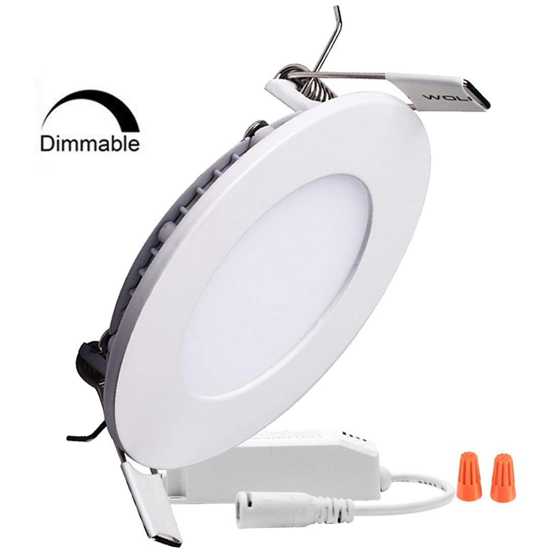Sugo 調光機能付き ラウンドLEDパネルライト 超薄型 スリム 6000K-6500K クールホワイト 埋込型天井ライト ホームオフィス 商業用照明パネル 24 Watts B07PYD8QTT  24 Watts
