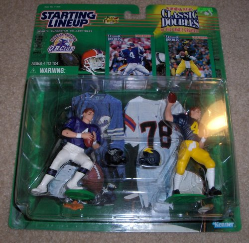 (1998 Jim Harbaugh NFL Classic Doubles QB Club Starting Lineup Figure)