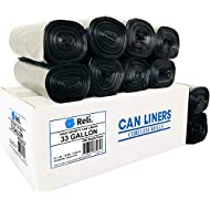 Reli. Easy Grab Trash Bags, 33 Gallon (250 Count) - Star Seal High Density Rolls (Black) (Can Liners, Garbage Bags with 30-35 Gallon Capacity)