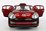 2016 Volkswagen Beetle Style Power Wheels Kids 12V Ride on Toy with UV Lights|Leather Seat|MP3