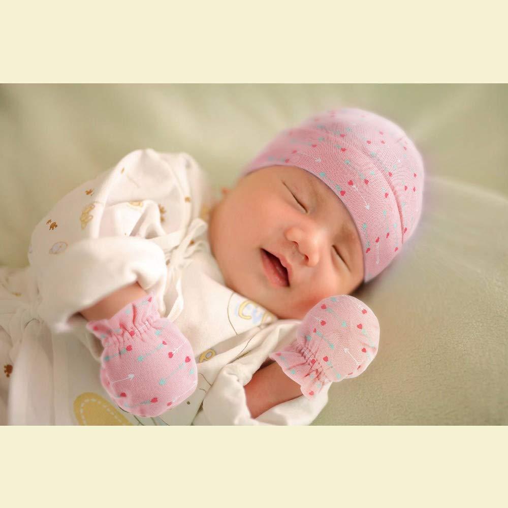 Lictin Baby M/ütze Kratzhandschuhe Babyset Baby Kratzhandschuhe Kratzf/äustlinge Kratzf/äustel Unisex Baby M/ütze U /…