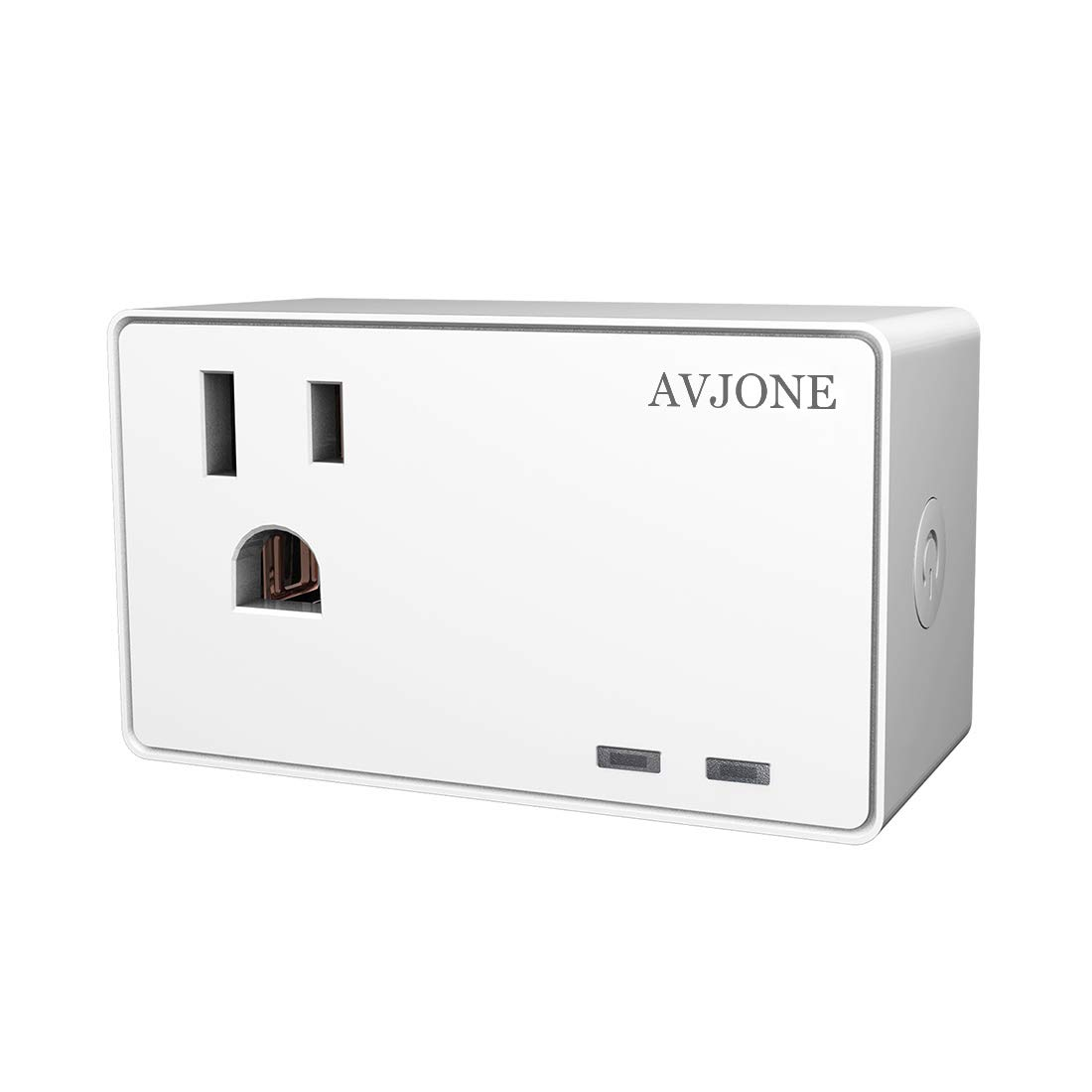 AVJONE Premium Small Smart Power Socket - Compact WiFi Wireless Power Outlet - Programmable Timing Function - Compatible With IFTTT, Alexa, Echo & Google Assistant Voice Contro