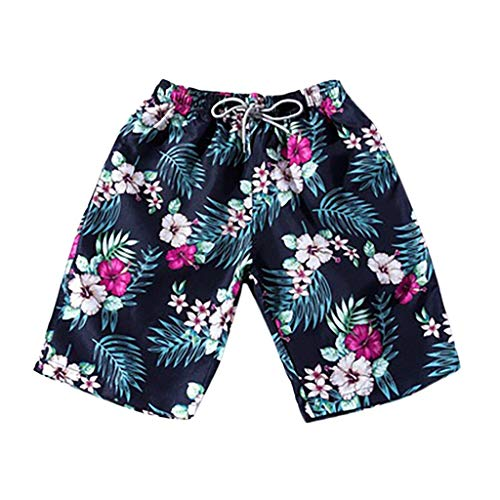 Men's Board Shorts Drawstring Swim Trunks Surf Beach Pants Quick Dry -