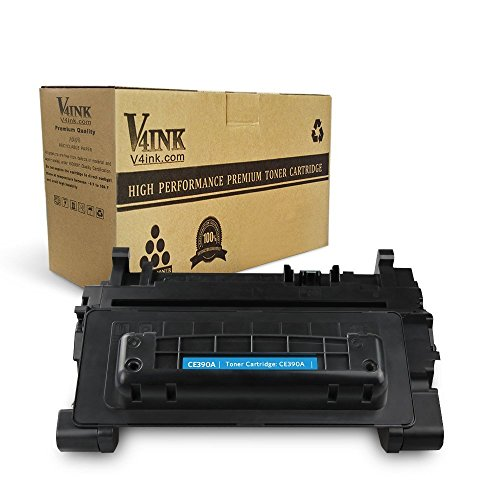 V4INK 1 Pack Compatible CE390A 90A Toner Cartridge High-Yield 10,000 Pages for HP LaserJet Ent 600 M601n M601dn M602n M603n, LaserJet M4555 Series Printer