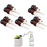 Automatic Watering Drip, WCIC 10Pcs Plant Self-Watering Devices Automatic Slow Release Vacation Plant Waterer Slow Release for Outdoor & Indoor