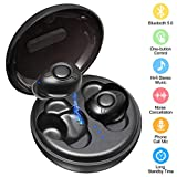 Wireless Earbuds Bluetooth 5.0 Deep Bass TWS Headphone, Sweatproof Sport in-Ear Headset for Running, Noise Cancellation Binural Earphone with 16H Playtime 3D Stereo Sound Dual Microphone Charging Case