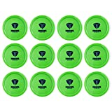 Truscope Sports 12 Pack 3 1/4 Inch Air Hockey Pucks (Green)